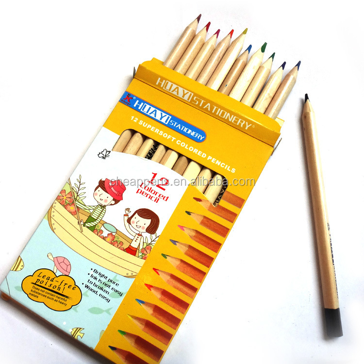 12 colors color pencil ,3.5inch pencil color set with Sharpener package