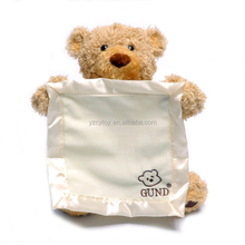Cute Peek a Boo Teddy Bear Play Hide And Seek Lovely Cartoon Stuffed Animal Bear Kids Birthday Gift Music plush bear toys baby p
