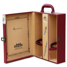 Custom Printed Real leather or PU leather Wine Box