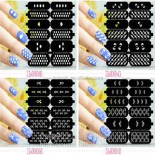 Latest arrival excellent quality beauty nail art polish sticker hollow out nail
