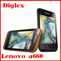 Hot original lowest price china android phone lenovo a660 4.0'' 512MB 4GB MTK6577 dual core 5MP gps wifi