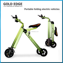 3 wheel portable folding electric bike/electric bicycle/mini folding e-bike/ebike