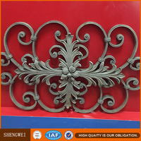 Wrought iron fence finials , iron fence parts , iron fence spears