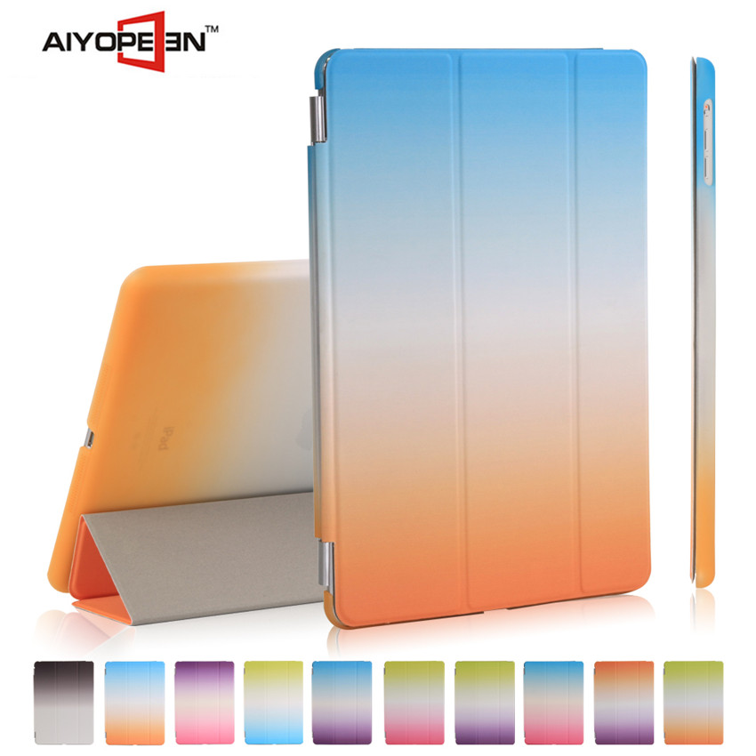 New arrival case s smart cover auto wake sleep for ipad air folded 3 styles PU Leather Stand Protective Case