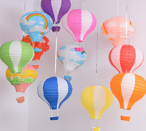 30cm=12inch Hanging Wedding Rainbow Lanterns Hot Air Balloon Paper Lantern Birthday Party <strong>Decorations</strong>