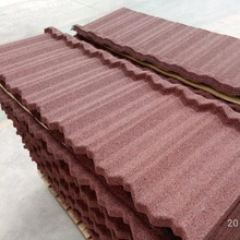 Stone Coated Steel Roof Tile Type and Al-Zn Alloy Coated metal Sheet Material Roof Tile