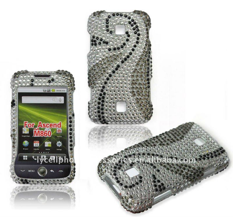 fancy diamond mobile phone case for HuaWei Ascend M860