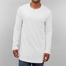 Long line t shirt men wholesale long sleeve t shirt for man