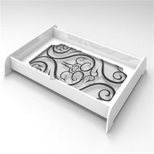 Luxurious unique white acrylic serving tray