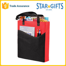 Durable Custom Lightweight Polyester Library Bag With Slip Pocket