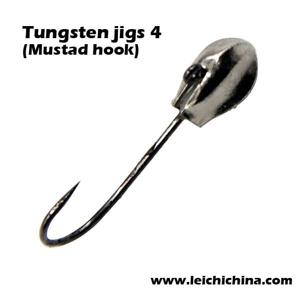 ear like hole mustad hook Tungsten fishing metal jig