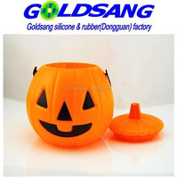 factory party gifts silicone pumpkin halloween lantern silicone pails