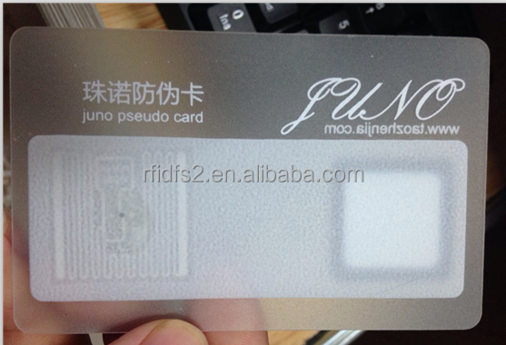 CR80 pvc transparent business laser cut greeting card blank rfid cards