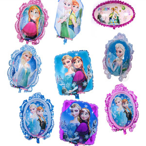 Partigos cartoon characters Mirror/square/ellipse Shaped Frozen Princess Balloons Foil balloon for girl birthday party