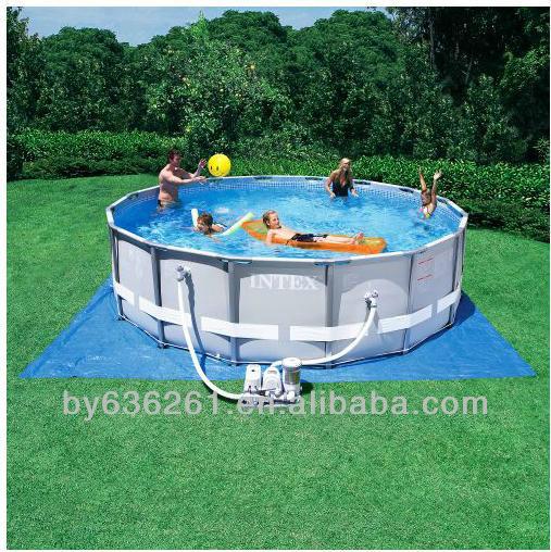 Quick up pool pvc stahlrahmen pool garten liner pool und for Garten pool quick up