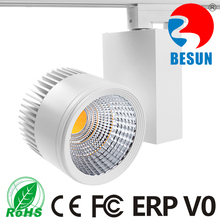 BESUN 5years warranty 3500-4000lm COB 30W (10-100W available) led track spot light commercial/gallery/shop/exhibition lighting