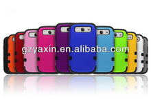 Cell phone cover case for samsung galaxy grand duo,Silicone PC Combo Robot Stand Phone Case For Samsung S3 i9300