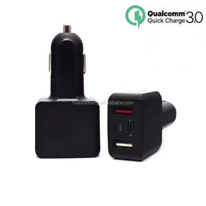 3 usb port quick car charger type-c 5v 3a 9v 2a 12v 1.5a QC 3.0 car charger with CE UL approved usb-c adapter