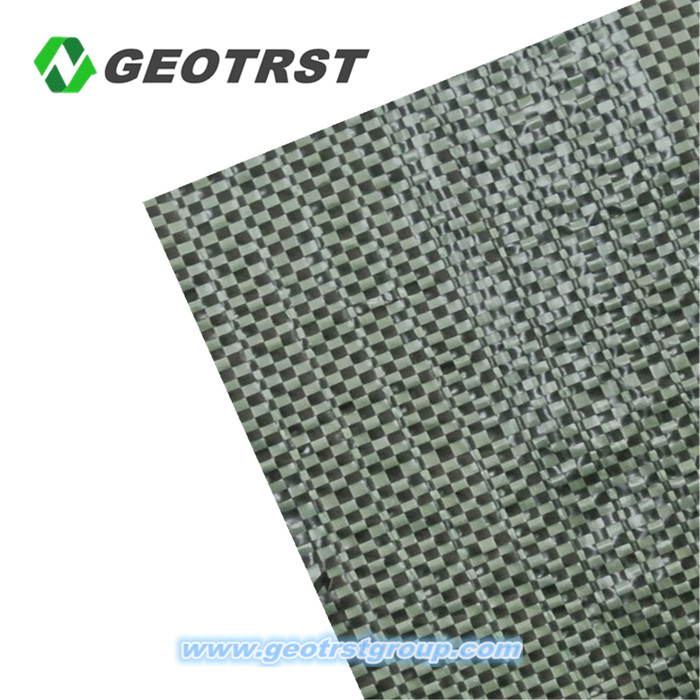 Customized production polyester pp woven fabric geotextile roll for road building