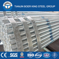 ASTM A53 hot rolled galvanized steel pipe for construction