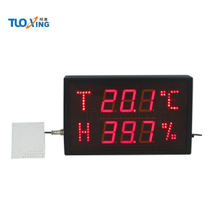 2.3 inch 6 digits wall clock humidity and temperature watches
