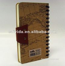 custom map covered small sized textbook printing