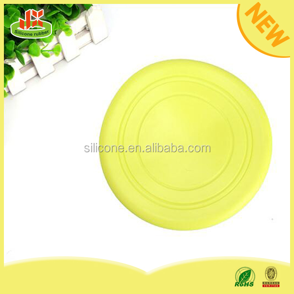 Soft round shapes Pet Dog Non-Toxic silicone Frisbee