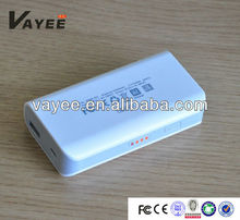 portable 5200mAh power bank with replaceable battery
