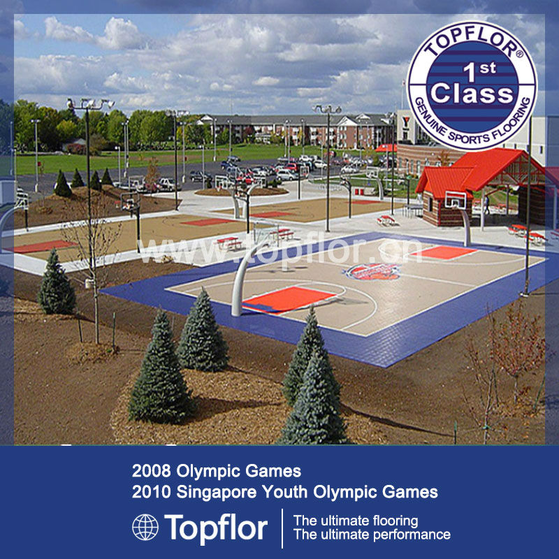 Sport Court Synthetic By PVC Flooring Or Vinyl Surfaces