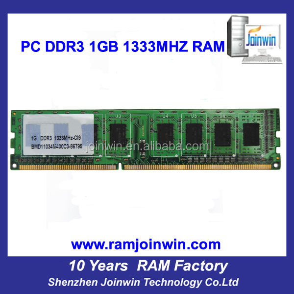 Lifetime warranty non ecc 64mb*8 1gb ddr 3 ram for desktop