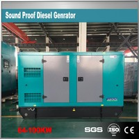 80kw silent electric power generator diesel 1500rpm
