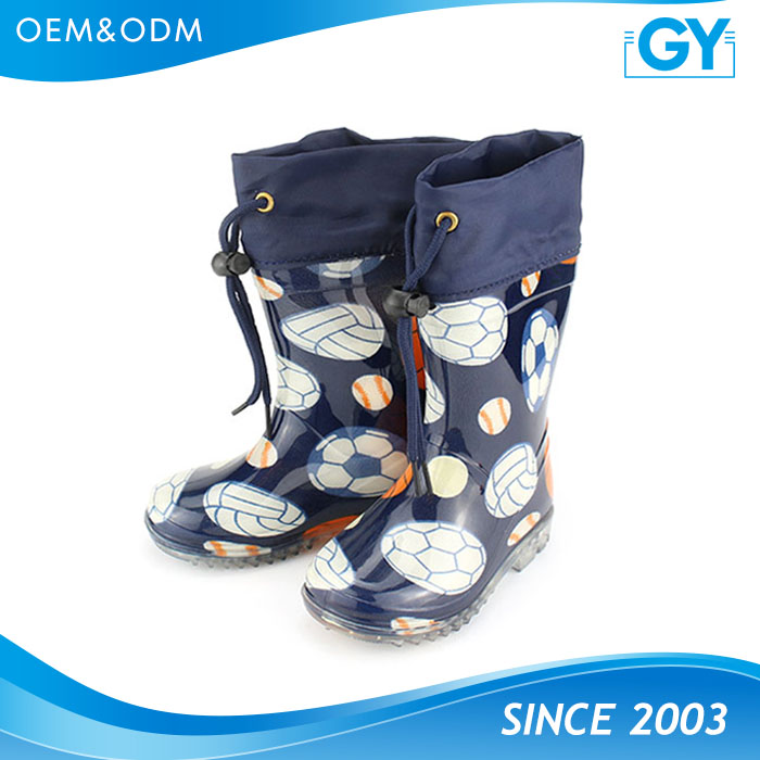 Factory good quality boys and girls cheap fashion rubber boot