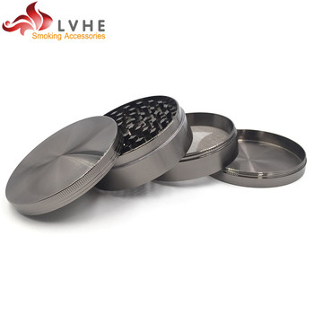 T008GZ LVHE Best Wholesale Website 4 Tier Zinc CNC 75MM Big Size Herbal Grinder