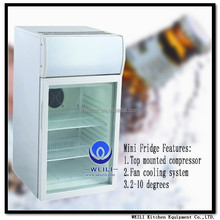 Cold Energy Drinks Desktop Mini Display Cooler Fridge for Red Bull and Coke cola