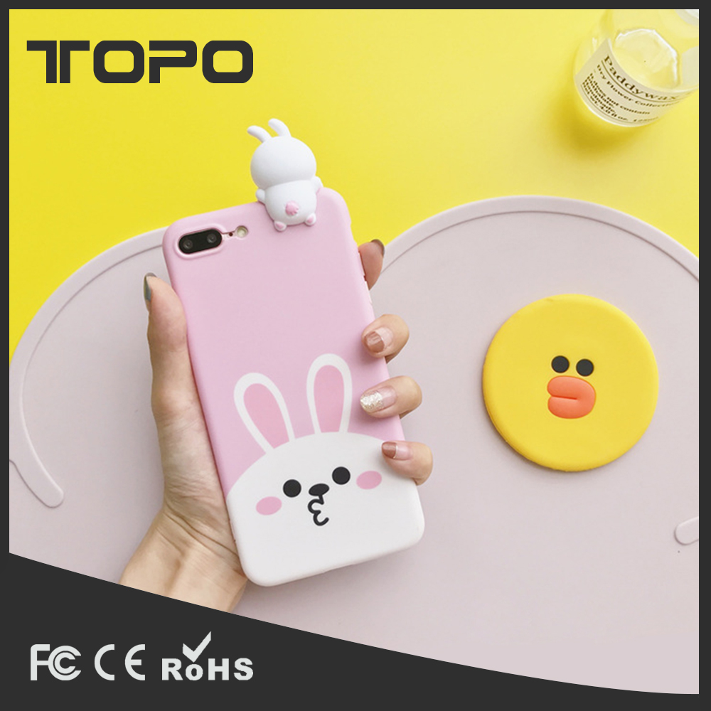 Cute pies Soft TPU Protective Anti-drop couples Phone Case Back Cover for iphone 6 7 plus