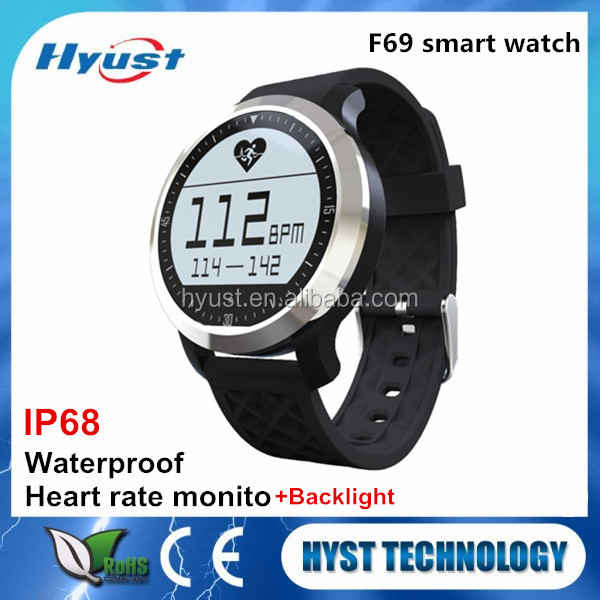 HYST F69 Bluetooth 4.0 Waterproof IP68 Fitness Tracker Smart Sport Watch