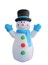 120cm/4ft outdoor inflatable Christmas Decorative Snowman wiyh hats and scarf