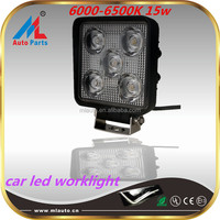 "4.5"" SQUARE 6000-6500K spot type auto led driving 15w work lights for suv atv trucks"