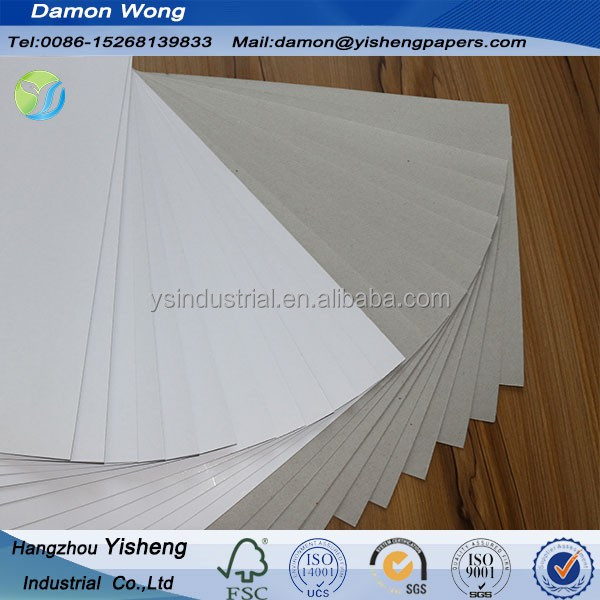 Nine Dragon Hangzhou Fuyang Mix Pulp Cheapest White Kaolinit Coated kraft back duplex board