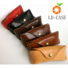 vintage handmade soft custom leather sunglass case, wholesale travel glasses case
