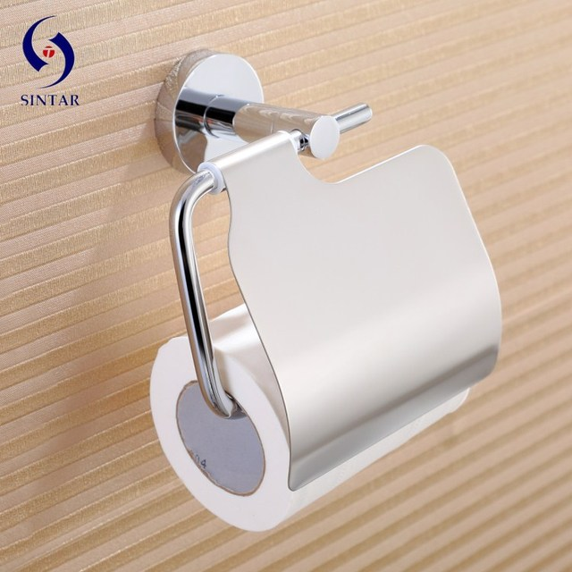 Chrome Plated Toilet Paper Holder Tissue Holder With Cover