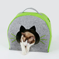 Nature Felt Cat Igloo House Winter Pet Cave with cushion