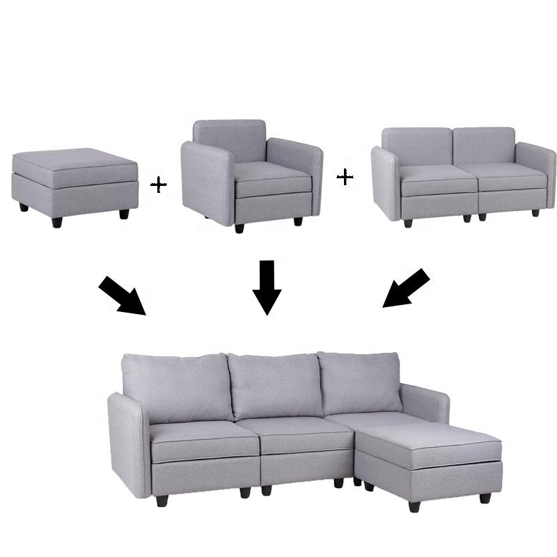 Modular Sofa Set Living Room Corner Sofa 3 And More Pieces Storage ...