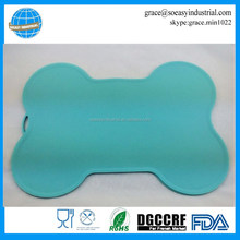 Silicone bone shape mat waterproof non-slip pet feeding mat