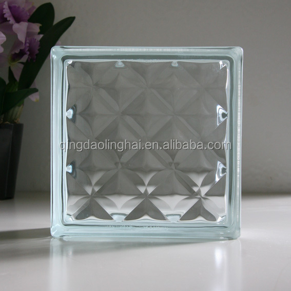 CE approved cheap clear glass blocks with hot selling type