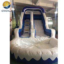 commercial inflatable water slide snow topic blue big slide