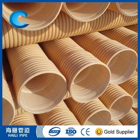good quality pvc double wall corrugated plastic pipe for drainage