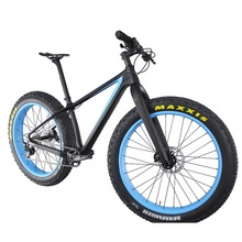 2016 Popular new blue painting carbon fat bike complete fatbike carbon bikes