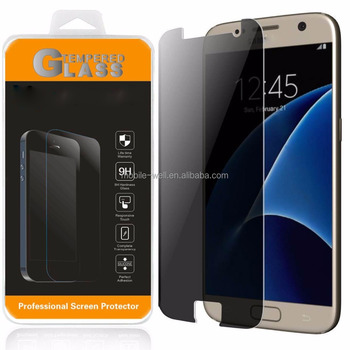 3D full cover tempered glass anti spy privacy screen protector for samsung s7 edge