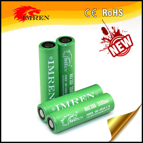 New arrival! IMREN 186503.7V 3500mAh 30A discharge li-ion battery for power tools pk MNKE 3500mah batteries